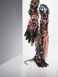 Leather and Pearls gloves