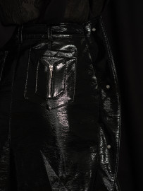 Jupe cuir glossy noire